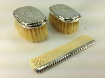 Antique Gorham Sterling Silver Child's  Two Brushes & Comb Grooming Set