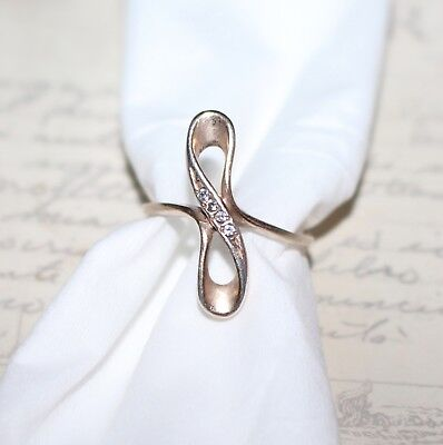 Vintage grandmas estate gold over sterling silver double knot ring band size 7.5