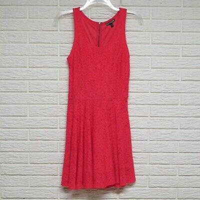Express Coral Pink Lace Overlay Dress Size XS