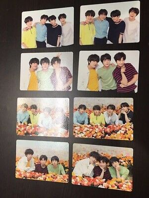 """BTS World Tour """"LOVE YOURSELF"""" Japan Edition- Official Mini Photocard-Full Set 8"""
