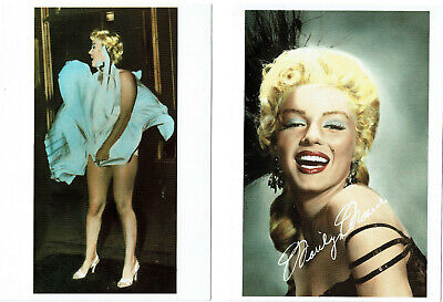 Marilyn Monroe - Set of TWO hand-tinted photographs (4¼ x 6 in. Postcards) NEW