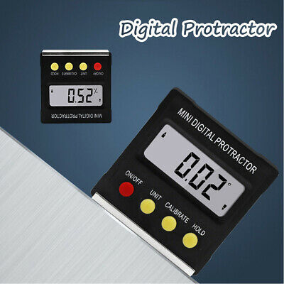 2019 Cube Inclinometer Angle Gauge Meter Digital Protractor Electronic Level Box