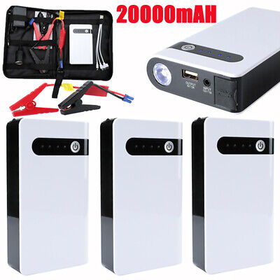 LOT Rechargeable 20000mAh Car Jump Starter Booster Jumper Box Power Bank Charger