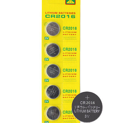 5x CR2016 CR 2016 3V Coin Cell Button Battery BR2016 DL2016 ECR2016 Watch Remote