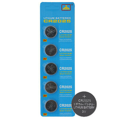 5x CR2025 CR 2025 3V Button Coin Cell Battery Watch Monitor Remote Toy Camera