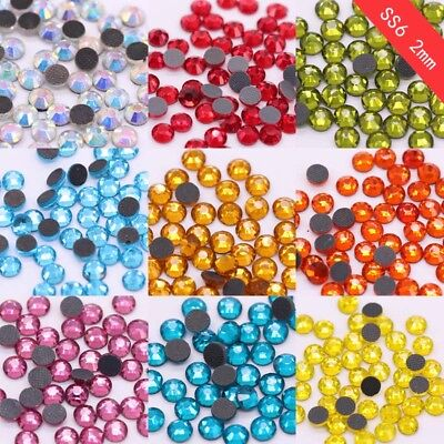 Top Quality DMC 14400p ss6 Iron on Hot fix Crystal Rhinestone Hotfix stone beads