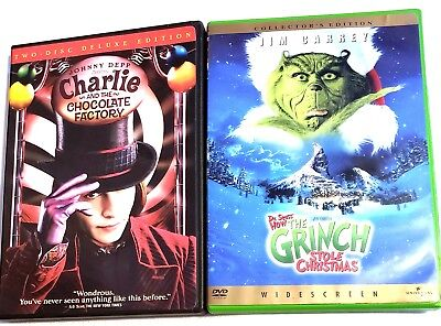 Charlie and the Chocolate Factory & The Grinch DVDs