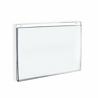 "Azar Displays Wall-Mount U-Frame Acrylic Sign Holders, 5"" x 7"" Clear, Pack Of 10"