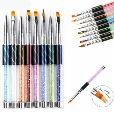 Acrylic Nail Art Tool Nail Art UV Gel Liner Gradient Painting Brush Art Pens