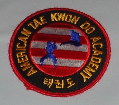 Martial Arts Embroidered Sew On Uniform Patch American Tae Kwon Do Academy