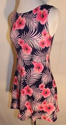 e86f4b1e1ac VICTORIA S SECRET PINK Short Tropical Floral Dress Open Back Sleeveless  Size S