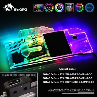 GPU Water Cooling RGB Copper Block For ZOTAC GeForce RTX 2070-8GD6 X-GAMING-OC