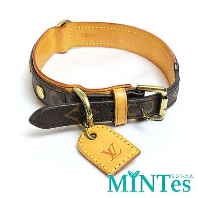 646ff4450557  Louis Vuitton  Monogram Corey Baxter MM Collar Brown Dog Collar Louis  Vuitton
