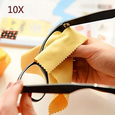 10x Microfiber Phone Sn Camera Lens Glasses Cleaner Cleaning Cloth Duster BE