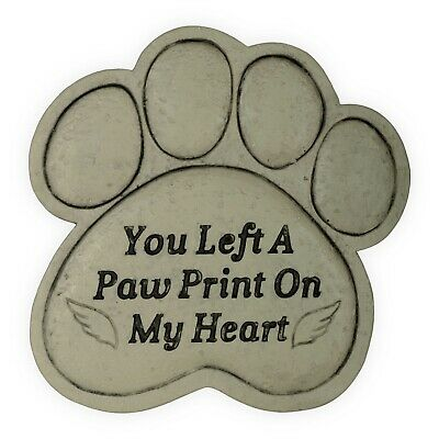 AngelStar Pet Memorial Garden Stone Plaque You Left a Pawprint On My Heart