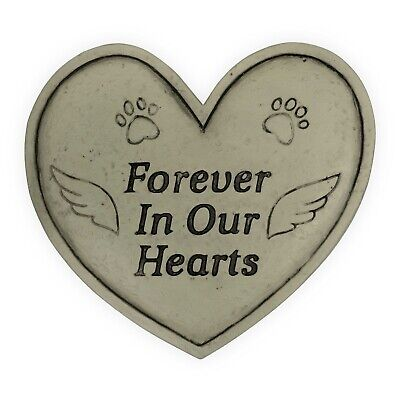AngelStar Pet Memorial Garden Stone Plaque Forever In Our Hearts