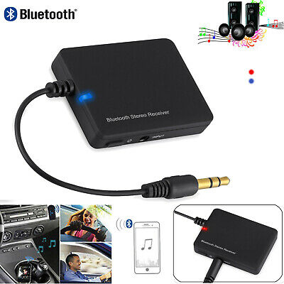 Wireless Bluetooth 2.0 AUX Car Audio Stereo Music Receiver Home 3.5mm Adapter