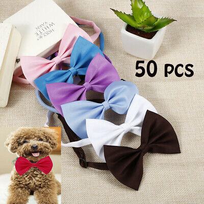 50Pcs Wholesale Pet Dog Puppy Necktie Bow Tie Ties Collar Grooming kids clothes