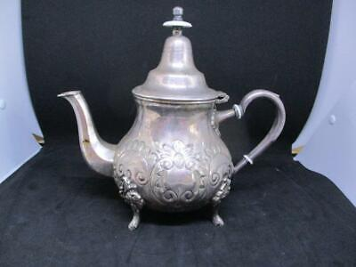 Vintage Hebrew Silverplated Ornate Teapot Engraved