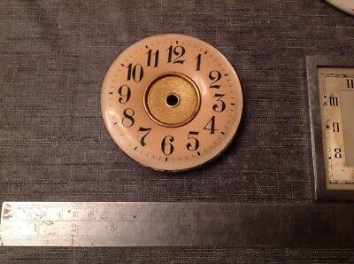 Antique Clock Dials Faces Wood Enamel Numbers Metal Ex Clockmakers Spare Parts