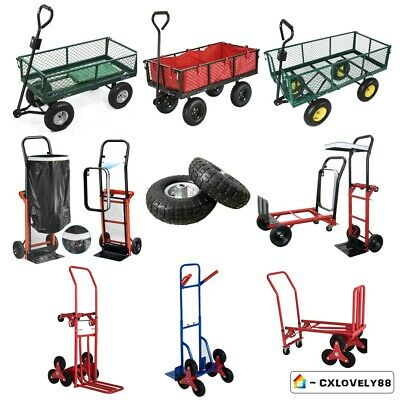 Heavy Duty Hand Trolley Sack Truck Transport Wheel Barrow Garden Industrial Cart