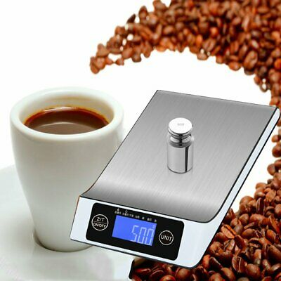 Stainless Steel Digital LCD 5kg Electronic Kitchen Cooking Food Weighing Scales