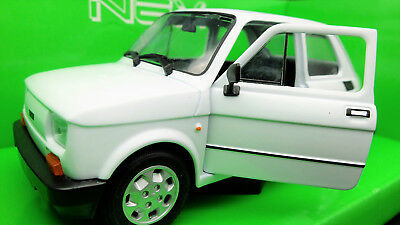Modellino Auto Fiat 126 Scala 1/24 Car Model Miniaturas Diecast Automodelli New