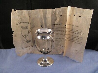 French Antique Silver Plated Egg Cup Stand Patent Coquetier Bordelais Bordeaux