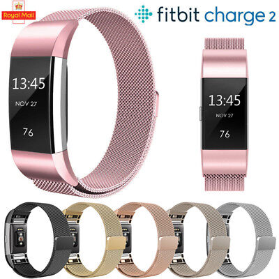 Magnetic Milanese Stainless Steel Wrist Band Strap Bracelet For Fitbit Charge 2