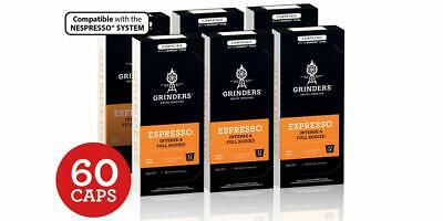Grinders Coffee Nespresso Compatible Capsules 60s Refill Pods - Espresso AU Made
