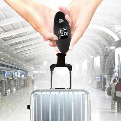 90lb Portable Electronic Digital Luggage Scale Electronic Weight -Black/Silver#