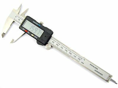 Stainless Steel Vernier Digital Electronic Caliper Inch/Metric Conversion 0-6""