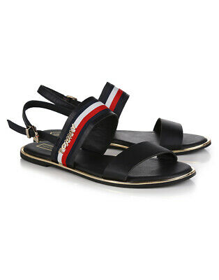 60207ff17 Tommy Hilfiger Flat Sandal Corporate Womens Footwear Sandals - Midnight