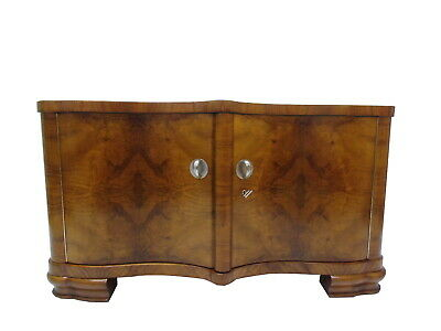 Bookmatched Burl Art Deco Commode or Small Sideboard