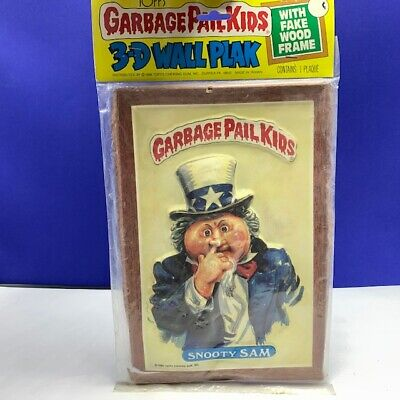 Garbage Pail Kids topps imperial gpk 3-D wall plak plaque wood frame Snooty Sam