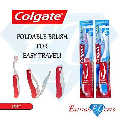 Colgate Portable Toothbrush Holiday Compact Travel Brush Soft Bristles Oral Care