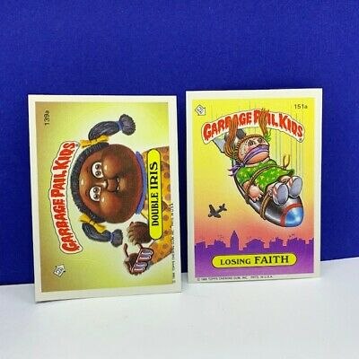 Garbage Pail Kids topps imperial trading cards 1986 Double Iris Losing Faith vtg