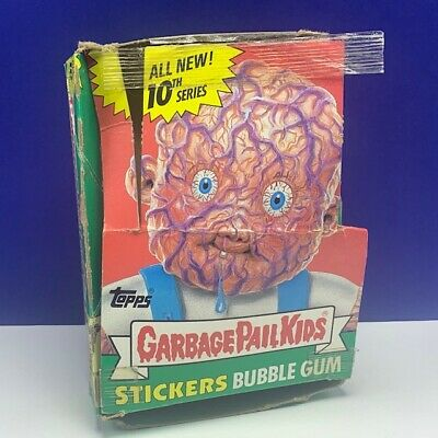 Garbage Pail Kids topps imperial trading cards 1987 box only 10th series GPK vtg