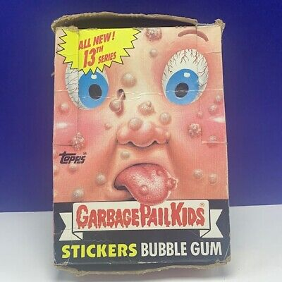 Garbage Pail Kids topps imperial trading cards 1987 box only 13th series GPK vtg