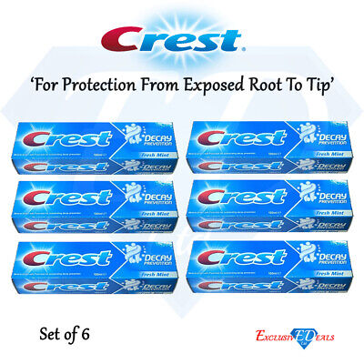 Crest Toothpaste Cavity Decay Prevention Mild Mint Oral Care - 100ml x 6