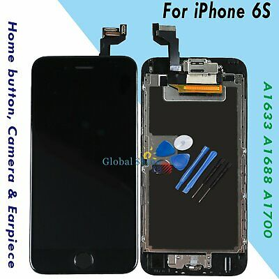 For iPhone 6S Screen Replacement Digitizer LCD Touch Home Button Display Black