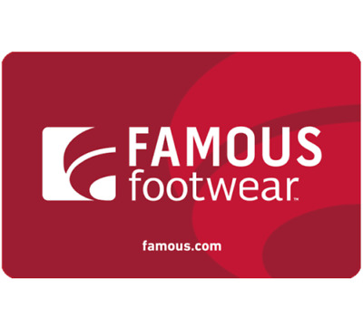 Famous Footwear Gift Card $5 for only $3.75 - Fast Delivery