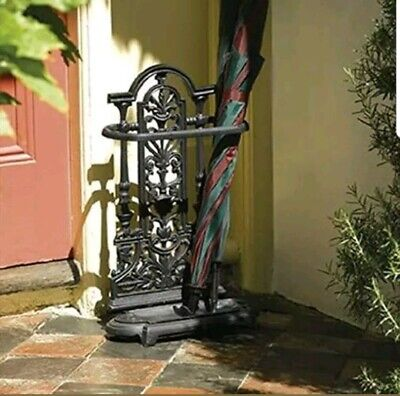Heavy Duty Ornate Brolly Umbrella Stand Walking Stick in Vintage Style Cast Iron