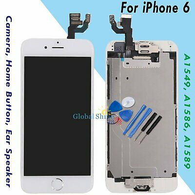 "For iPhone 6 4.7"" Screen Replacement Digitizer LCD Home Button Camera White UK"