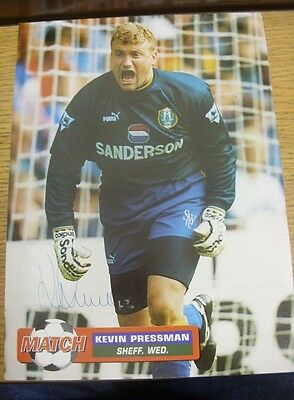 1990/2000's Autograph: Sheffield Wednesday - Pressman, Kevin [Hand Signed Colour