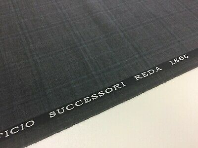 C9771 1 Metre Length Wool Suiting Navy//Grey Check Fabric
