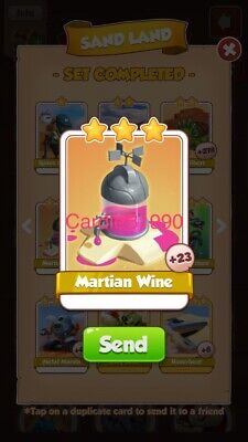 X1 Martian Wine Coin Master trading card !!!Super Fast Dispatch!!!