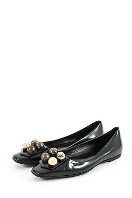 ba0a529cf8887 Very Rare Womens Fendi Patent Leather Ballet Flats Shoes Moccasins Loafers  37