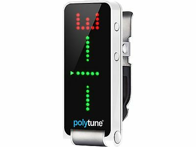 Tc Electronic Polytune Clip Tuner Polyphonic Clip-On For Guitar And Low