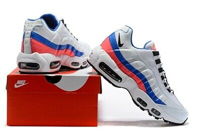 best loved bd188 77b66 Nike Air Max 95 Essential Ultramarine Sz 14 White Solar Red Blue  160 749766  106